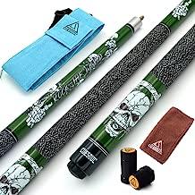 CUESOUL 57 inch 19/20/21 oz 1/2 Maple Pool Cue Stick Kit-Rockin Series
