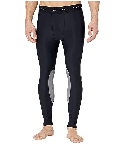 Koral T-Tone Perforated Nyal Leggings (Black/Chrome) Men