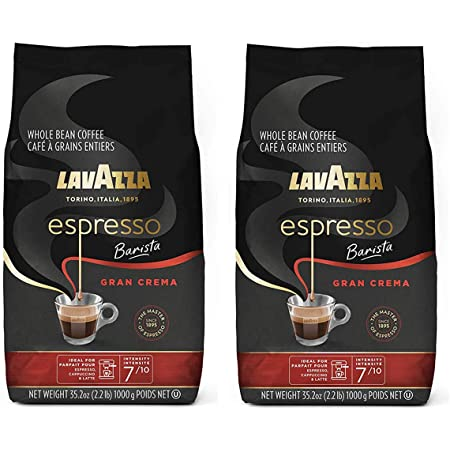 Lavazza Gran Crema Espresso, 2.2-Pound - Pack of 2 (Packaging May Vary)