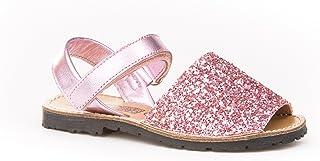 83fee6cb Sandalias Menorquinas para Niñas en Glitter Todo Piel mod203. Calzado  infantil Made in Spain,