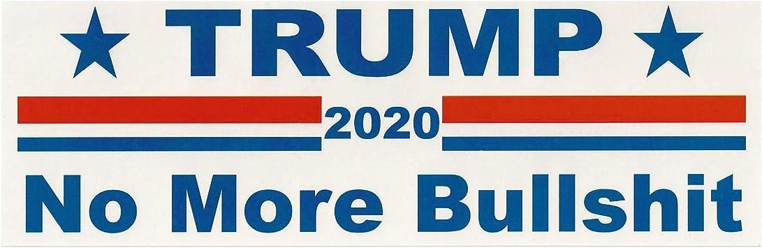 20X Donald Trump 2020 Keep America Great No More Bullshit  Car Bumper Stickers