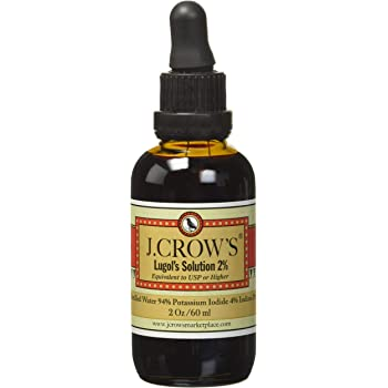 J.Crow's Lugol's Iodine Solution, 2 oz, Twin Pack (2 Bottles)