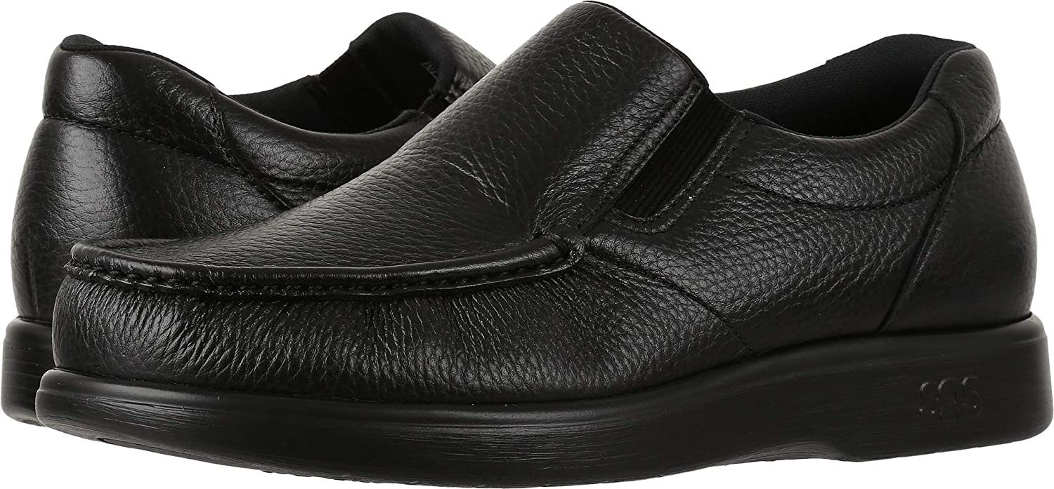 San Antonio shoe SAS Men's Side Gore Slip on Comfort Walking Shoes (13.5 M (M) (D) US, Black) B01M302MG6  | Hervorragende Eigenschaften