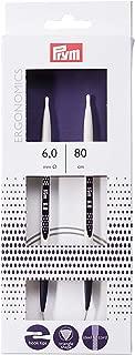 Prym Ergonomic Design Circular Knitting Pins/Needles, Metal, Multi-Colour, 6 mm, 80 cm Length
