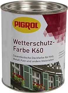 Pigrol Wetterschutz-Farbe K60-0,75L - echtgrün Holzfarbe für innen und aussen