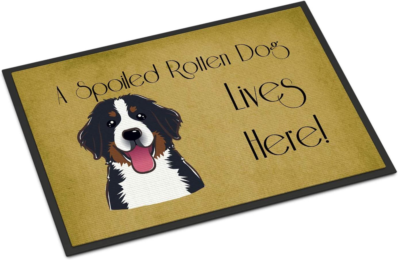 Caroline's Treasures security BB1485MAT Bernese Dog Mountain Spoiled High order