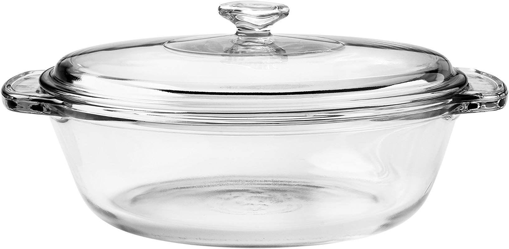 Anchor Hocking 77890 Fire King Casserole Baking Dish With Lid Glass 1 5 Quart