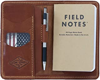 Personalized Leather Field Notes Wallet, Field Notes Cover, Moleskine Cover, Passport Wallet, Handmade in Arizona