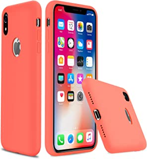 """Lopie iPhone Xr Silicone Case, [Silky Series] All-Around Protection iPhone Xr Case, Slim Gel Rubber Phone Cover for iPhone Xr 2018 (6.1""""), Peach"""