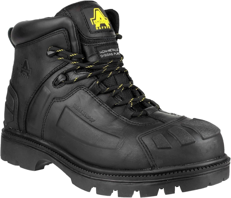 Amblers FS996 Mens Lace Up Safety Boots (12 UK) (Black)