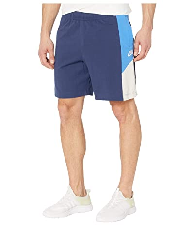 Nike NSW Shorts Jersey Color Block (Midnight Navy/Pacific Blue/White) Men