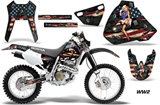 AMR Racing MX Dirt Bike Graphic Kit Sticker Decals Compatible with Honda XR400 1996-2004 - WW2