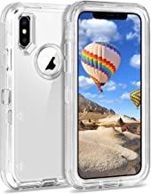 Coolden Case for iPhone X Case Hybrid Clear Heavy Duty Protective Cover Dual Layer Hard Shell Shockproof TPU Case for 5.8 Inches Apple iPhone X iPhone 10, Transparent