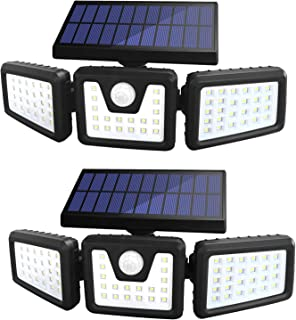 Solar Lights Outdoor, Sonata 3 Adjustable Heads Solar Powered Outdoor Lights, 800LM 6000K Solar Motion Sensor Light Outdoo...