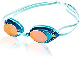 Speedo Women's Vanquisher 2.0 Mirrored Goggles, One Size, Aqua
