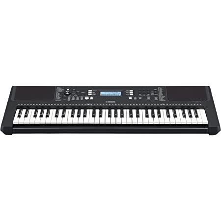 Yamaha PSR-E373 Clavier arrangeur, noir – Instrument de musique polyvalent à 61 touches dynamiques – Clavier portable pour débutants avec sonorités réalistes