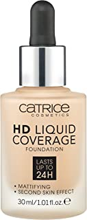 Catrice HD Liquid Foundation (030 Sand Beige)- High & Natural Coverage, Vegan