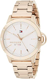 Tommy Hilfiger Women's Stainless Steel Quartz Watch with Carnation Gold Strap, 17 (Model: 1782024)