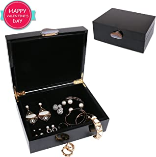 black gloss jewellery box