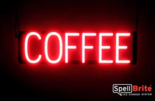 SpellBrite Ultra-Bright COFFEE Sign Neon-LED Sign (Neon look, LED performance)