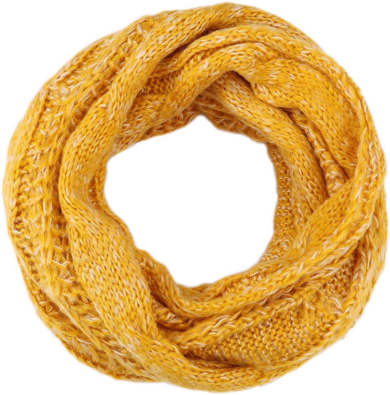 Womens Knit Infinity Scarf Circle Loop Warm Fashion Thick Ribbed