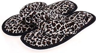Indoor Slippers for Women Open Toe, Plush Anti Slip Flip Flops