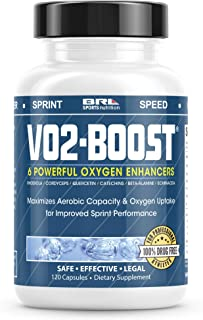 VO2 Boost. Natural Endurance and Oxygen Booster Performance Enhancer to Increase VO2 max w/Rhodiola Rosea, B12, and Alpha Lipoic Acid (120 Capsules) (30 Day Supply)