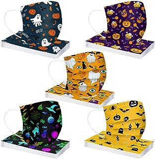 comprar comparacion MaNMaNing Niños Protección 3 Capas Transpirables con Elástico para Los Oídos Pack 50 unidades 20200903-MANING-HL50 (Hallow...