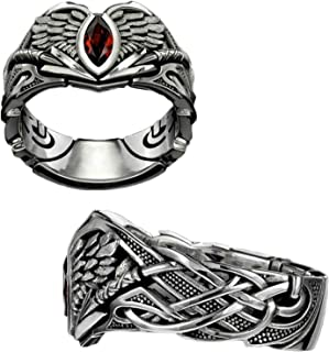 GUANJIAN The Valkyrie Ring, The Valkyrie Fashion Creative Biker Style Retro Lucished Ring , Men's Ring(2pcs) 9