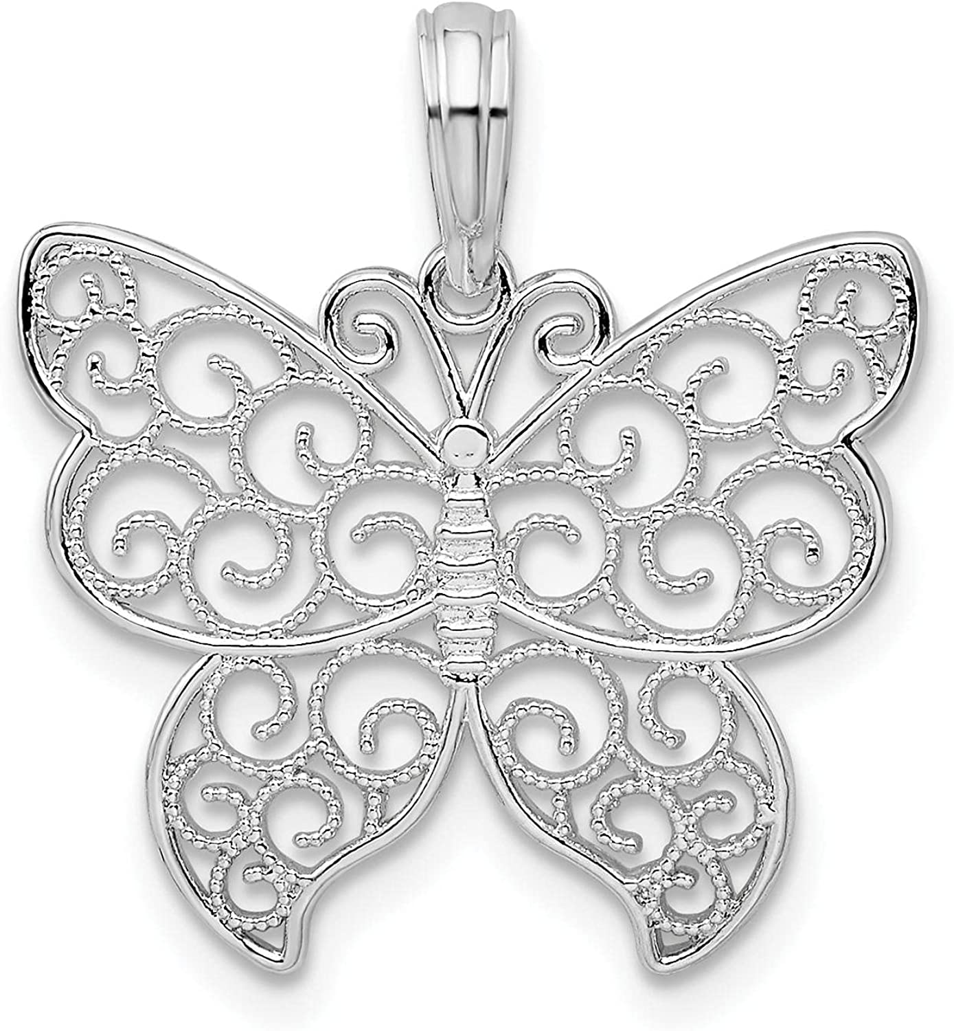 Virginia Beach Mall OFFicial site Million Charms 925 Sterling Silver Wing Filigree Polished Butter