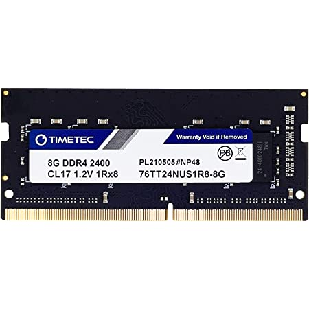 Timetec 8GB DDR4 2400MHz (DDR4-2400) PC4-19200 (PC4-2400T) Non-ECC Unbuffered 1.2V CL17 1Rx8 Single Rank 260 Pin SODIMM Laptop Notebook PC Computer Memory RAM Module Upgrade (8GB)