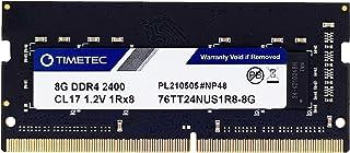 Timetec 8GB DDR4 2400MHz (DDR4-2400) PC4-19200 (PC4-2400T) Non-ECC Unbuffered 1.2V CL17 1Rx8 Single Rank 260 Pin SODIMM La...