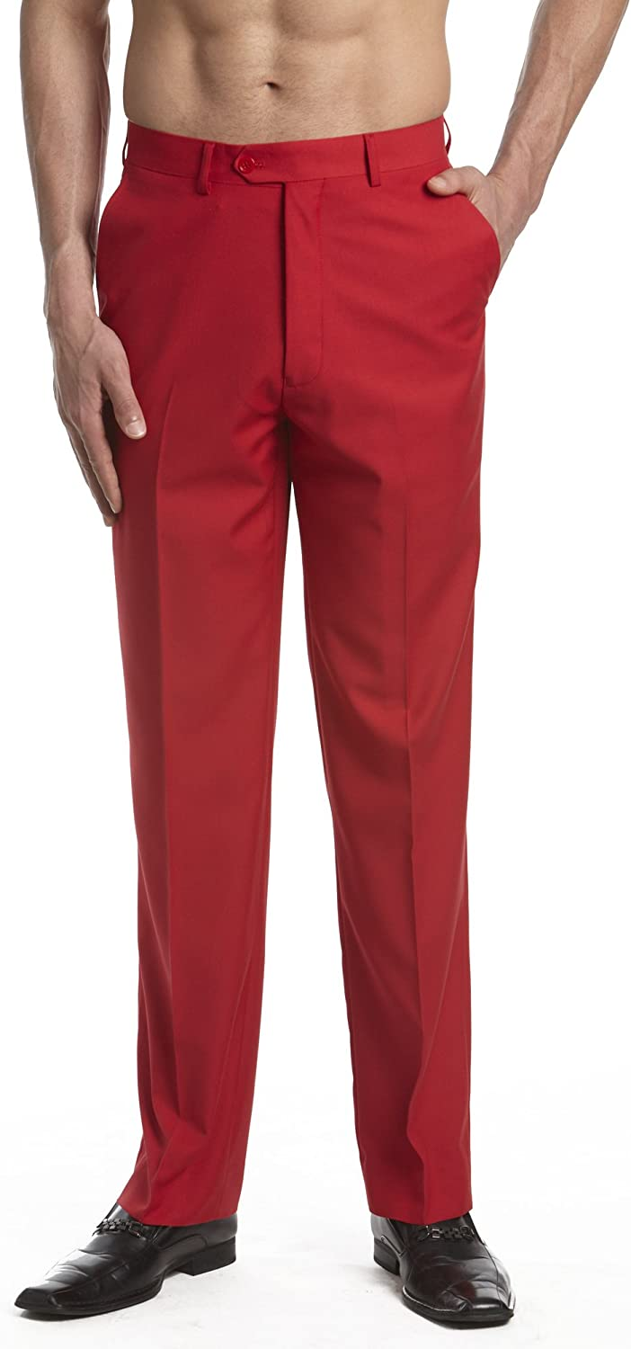 CONCITOR Collection Men's Dress Pants In a popularity Tucson Mall Front Slacks Trousers Flat