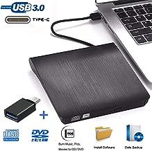 iAmotus Lecteur CD DVD Externe, Graveur DVD Externe Portable USB 3.0 Type C Dual Port..