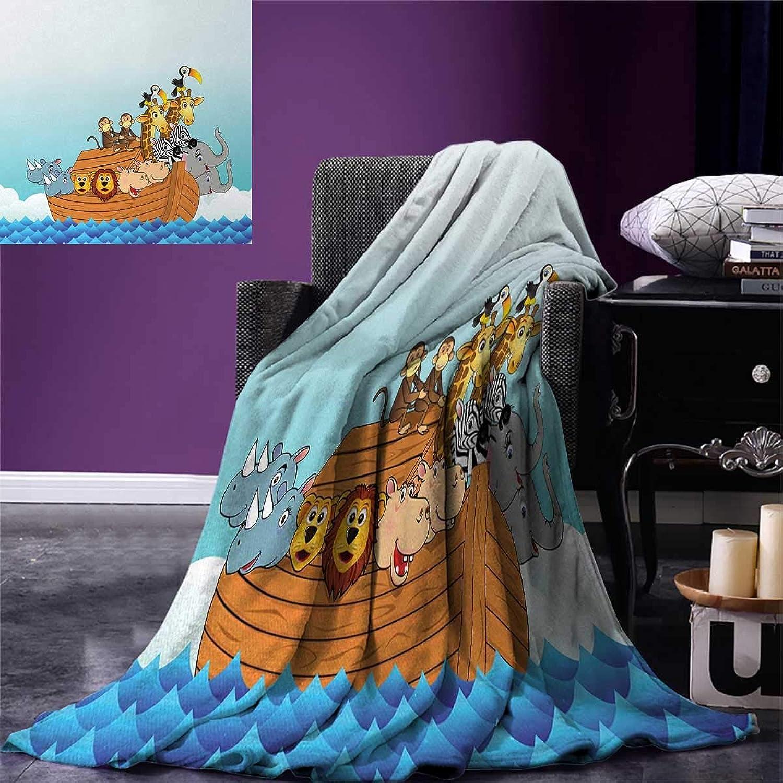 Anniutwo Ark Travel Throw Blanket Ark in Waves in in in The Sea