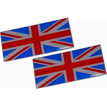 Triple-C Black Union Jack Metal Car Body Badges self Adhesive Pair