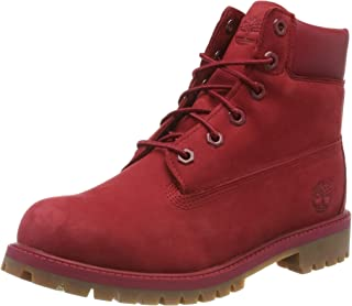 Timberland Toddler Red 6 Inch Premium Waterproof Boots-UK 3.5 Infant