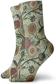 Flor clásica Calcetines de compresión de equipo clásico Tejido plano Casual Calentamiento atlético 30 cm Suave