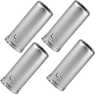 Vacuum Tube Shield Aluminum Alloy 9G-55 Shield Caps For 9 Pin 12AX7 12AU7 12AT7 Tubes, Silver