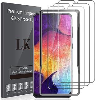LK Pellicola Protettiva Per Samsung Galaxy A50 Vetro Temperato,[3 Pezzi] [9H Durezza] [Strumento per Una Facile Installazi...
