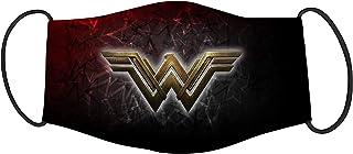 Vista Wonder woman Logo Printed Mask for Kids/Cotton Reusable Washable Mask Size 18x10cms