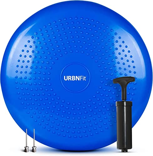 popular URBNFit Balance online sale Disc-Stability Wobble Cushion-Lumbar Support for Desk popular and Office Chair, Lower Back Pain Relief and Support-Kid's Wiggle Seat for Classrooms-Home Gym Workout Equipment - Pump Included outlet online sale