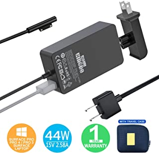 Surface Pro Charger Surface Pro 4 Charger, KSW KINGDO 44W 15V 2.58A Power Supply Compatible Microsoft Surface Pro 4 Pro 3 Pro 6 Pro 7 Surface Pro Laptop 1/2 Surface Go & Surface Book with Travel Case
