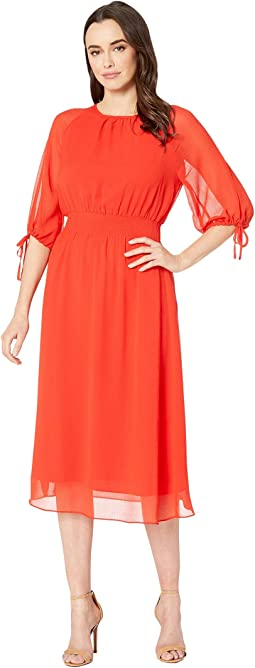 Gauze Chiffon Smocked Waist Dress