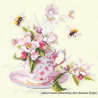 multicolor Magic Needle 100-005 algod/ón Juego de punto de cruz y punto de cruz 20 x 23 cm dise/ño de ramo de oto/ño