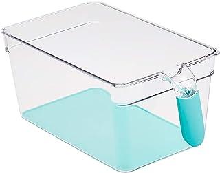 Amazon Basics Bacs avec poignée pour réfrigérateur Grand Lot de 2