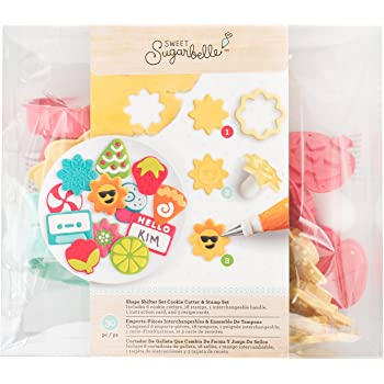 American Crafts Sweet Sugarbelle Everyday Shape Shifter Cookie Cutter and Stamp Set - 25 Piece Pack