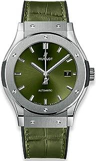 Hublot - Classic Fusion Green Sunray Dial Reloj automático para hombre 542.NX.8970.LR