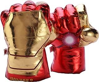 FAIRZOO Iron-Man Smash Hands Fists Big Soft Plush Gloves Pair Costume Gold