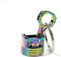 Metal Piston Car Keychain Keyfob Engine Fob Key Chain Ring keyring Silver New